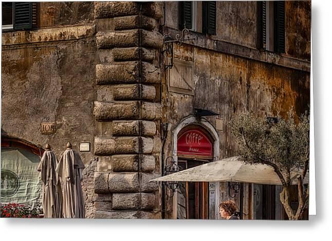 Cafe Roma Greeting Card by Erik Brede