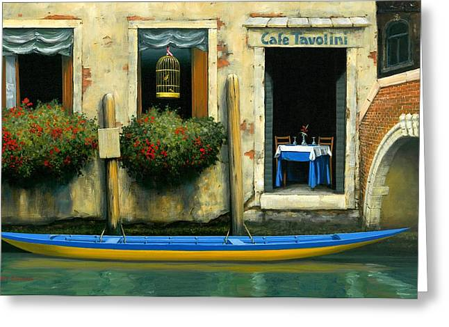 Cafe Tavolini Greeting Card by Michael Swanson
