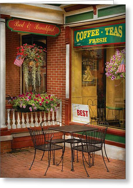 Best Sellers -  - Historic Country Store Greeting Cards - Cafe - The Best ice cream in Lancaster Greeting Card by Mike Savad