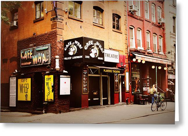 Greenwich Village Greeting Cards - Cafe Wha? Greeting Card by Jessica Jenney