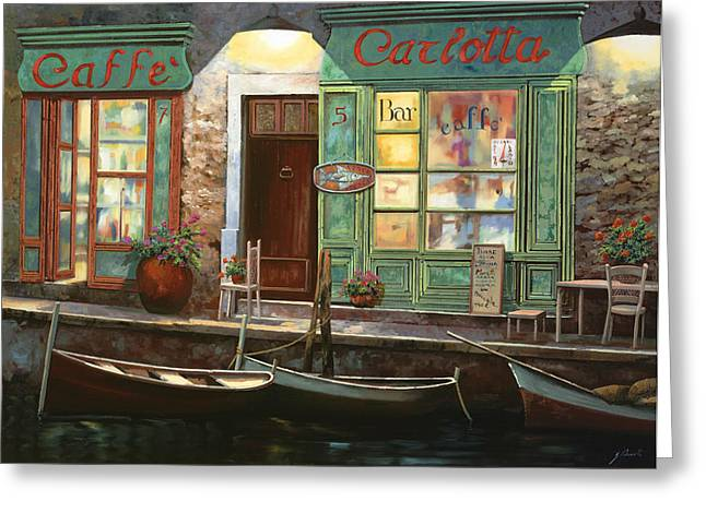 caffe Carlotta Greeting Card by Guido Borelli
