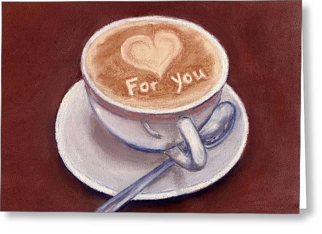 Caffe Latte Greeting Card by Anastasiya Malakhova