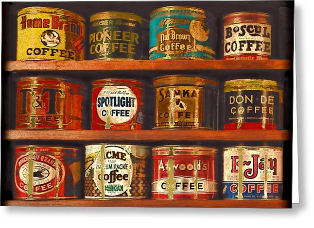 After Dinner Greeting Cards - Caffe Retro No. 1 Greeting Card by Douglas MooreZart