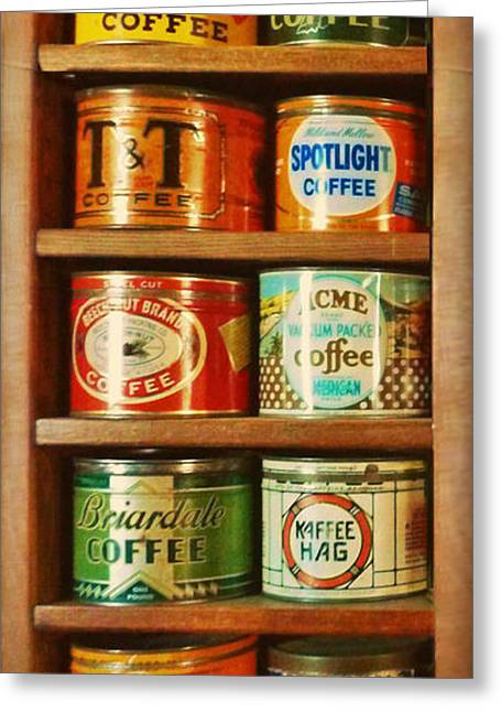 After Dinner Greeting Cards - Caffe Retro No. 3 Greeting Card by Douglas MooreZart