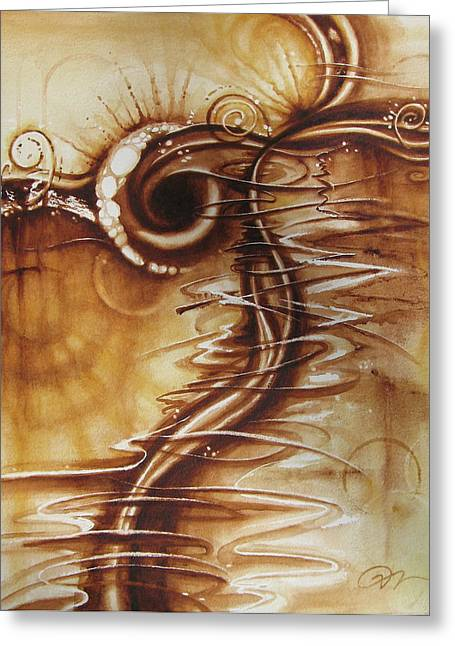 Caffeine Greeting Card by Tracy Male