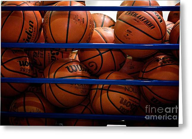 Basketballs Greeting Cards - Cage of Dreams Greeting Card by Frank J Casella