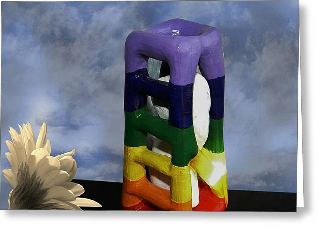 Canada Sculptures Greeting Cards - Caged for Speaking Out Greeting Card by Barbara St Jean
