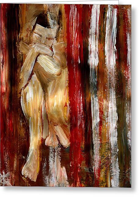 Gay Bar Paintings Greeting Cards - Caged Greeting Card by Kimmo Matias