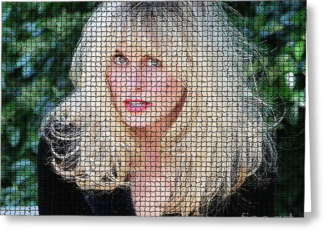Caged Woman Greeting Card by Cadence Spalding