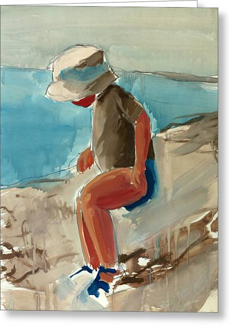 Cagnes Study Greeting Card by Daniel Clarke