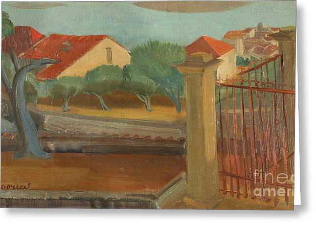 Strength Paintings Greeting Cards - Cagnes-sur-Mer Greeting Card by Celestial Images