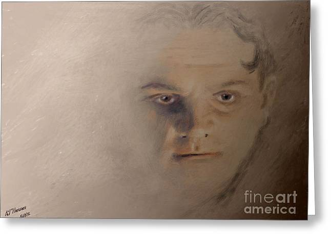 Actor Greeting Cards - Cagney Greeting Card by Arne Hansen