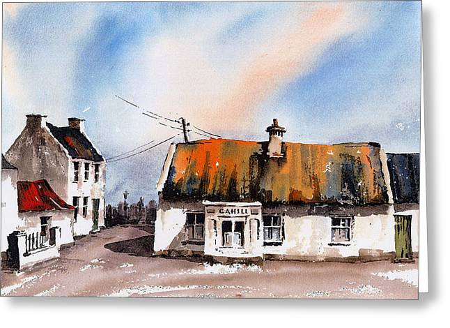 Val Byrne Greeting Cards - Cahills Thatched Pub Galmoy Kilkenny Greeting Card by Val Byrne