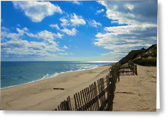 Amazing Jules Greeting Cards - Cahoon Hollow Beach Greeting Card by Amazing Jules