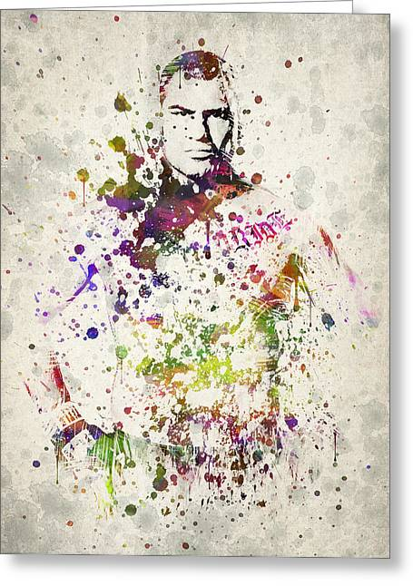 Famous Athletes Greeting Cards - Cain Velasquez Greeting Card by Aged Pixel