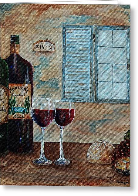 Vintner Greeting Cards - Cain Vineyards and Kennedy Meadows Greeting Card by Tamyra Crossley