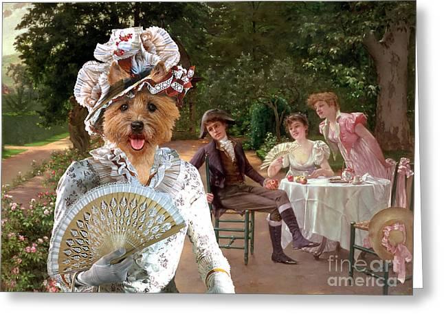 Cairn Terrier Greeting Cards - Cairn Terrier Art Canvas Print Greeting Card by Sandra Sij