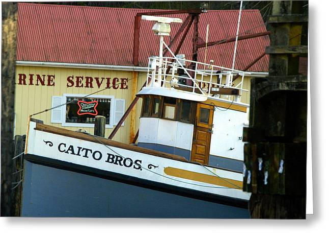Fishing Boats Greeting Cards - Caito Bros Greeting Card by Bill Gallagher