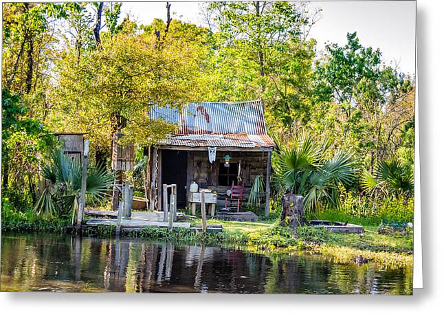 Water Jug Greeting Cards - Cajun Cabin Greeting Card by Steve Harrington