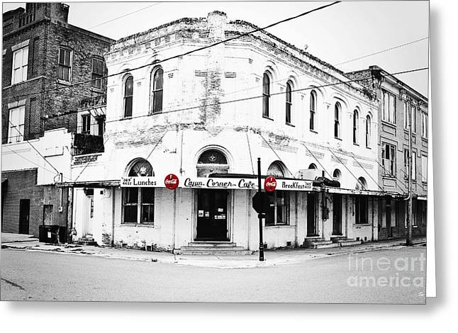 Cajun Corner Cafe Greeting Card by Scott Pellegrin