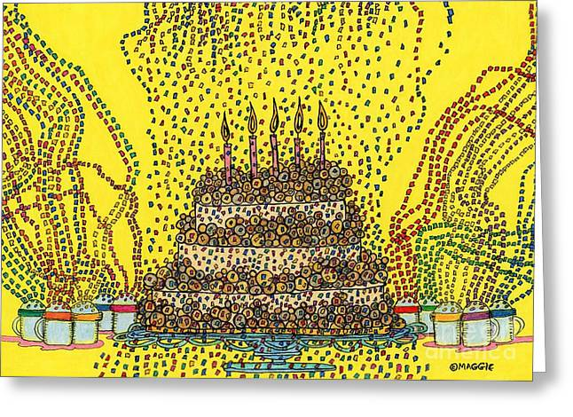Culinary Drawings Greeting Cards - Cake Balls of Plenty  Greeting Card by Mag Pringle Gire