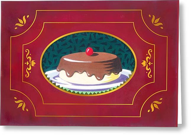 Fast Food Mixed Media Greeting Cards - Chocolate cake Greeting Card by Renu K