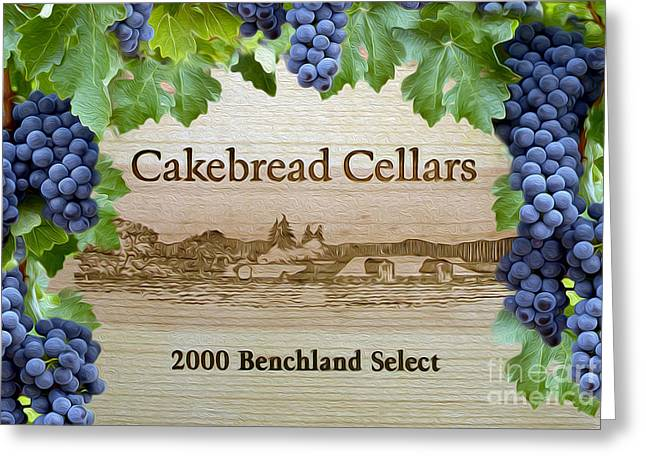 Cakebread Greeting Cards - Cakebread Cellars Greeting Card by Jon Neidert