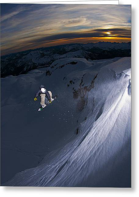 Jeremy Greeting Cards - Mt. Baker Sunset Greeting Card by Kevin Westenbarger