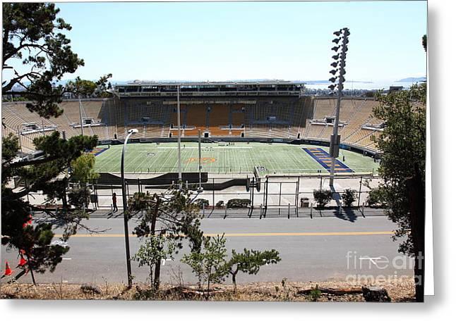 Ucb Greeting Cards - Cal Bears California Memorial Stadium Berkeley California 5D24656 Greeting Card by Wingsdomain Art and Photography