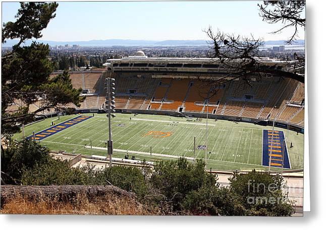 Ucb Greeting Cards - Cal Bears California Memorial Stadium Berkeley California 5D24659 Greeting Card by Wingsdomain Art and Photography