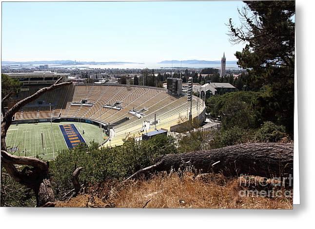 Ucb Greeting Cards - Cal Golden Bears California Memorial Stadium Berkeley California 5D24670 Greeting Card by Wingsdomain Art and Photography