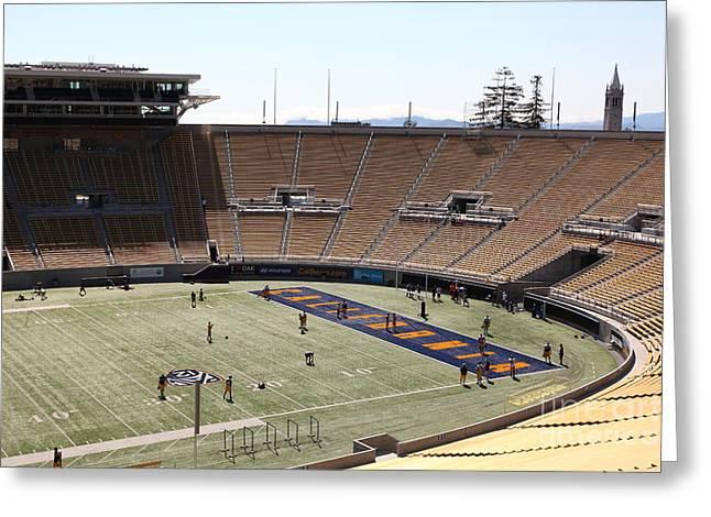 Cal Bear Greeting Cards - Cal Golden Bears California Memorial Stadium Berkeley California 5D24703 Greeting Card by Wingsdomain Art and Photography