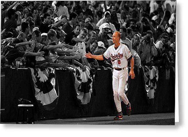 Cal Ripken Greeting Card by Brian Reaves
