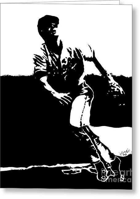 Cal Ripken Jr. Drawing Greeting Card by Rob Monte