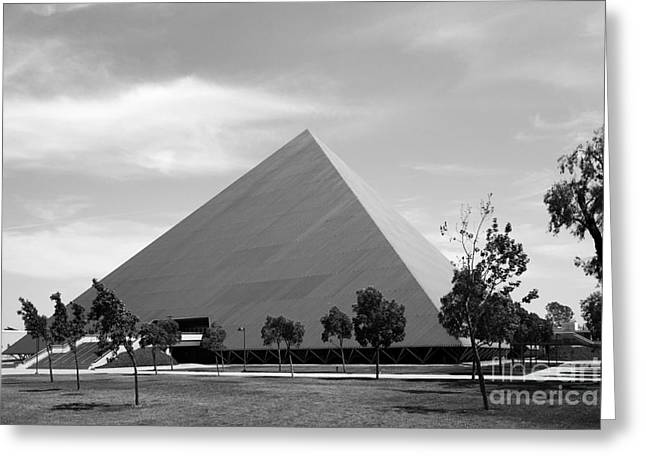 Pyramids Greeting Cards - Cal State University Long Beach Walter Pyramid Greeting Card by University Icons
