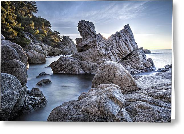 Cala Dels Frares, Lloret De Mar Catalonia Greeting Card by Marc Garrido