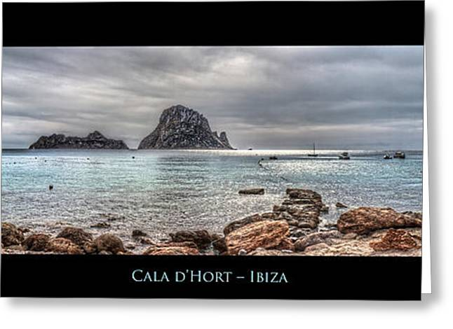 Ibiza Greeting Cards - Cala Dhort Ibiza  Greeting Card by Corey Cassaw