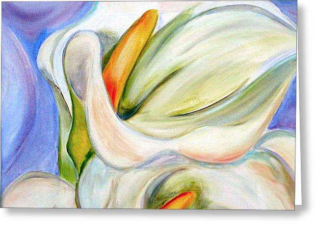 Cala Lily Greeting Card by Debi Starr