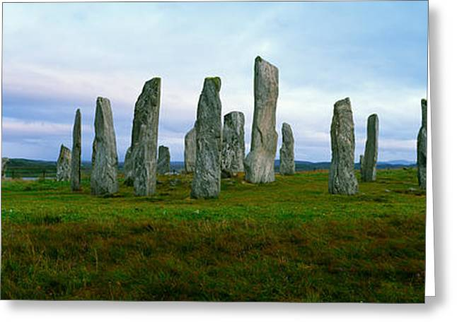 Outer Hebrides Greeting Cards - Calanais Standing Stones, Isle Greeting Card by Panoramic Images