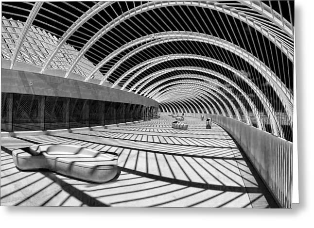 Technical Photographs Greeting Cards - Calatrava 8 Greeting Card by Gordon Engebretson