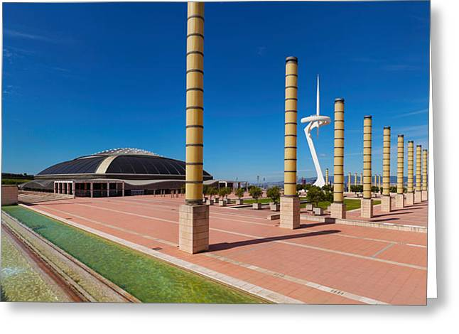 Communications Tower Greeting Cards - Calatrava Tower At Olympic Ring Greeting Card by Panoramic Images