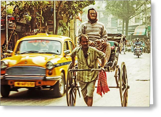 Calcutta Greeting Card by Vandana Dev
