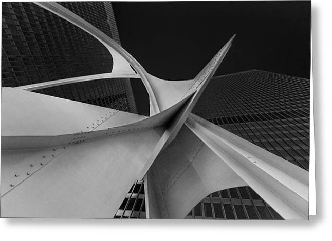 Calder's Flamingo Chicago Greeting Card by Mike Burgquist