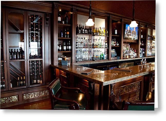 The Lake George Greeting Cards - Caldwells Lobby Bar at the Sagamore Greeting Card by David Patterson
