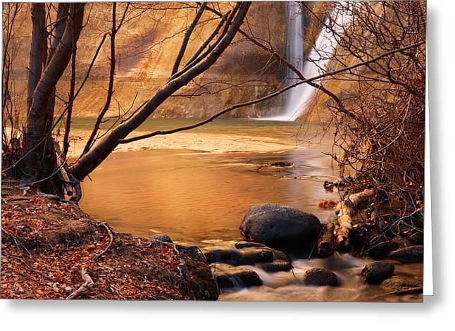 Calf Creek Falls 3 Greeting Card by Leland D Howard