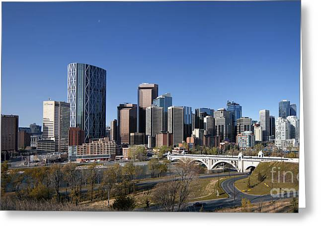 City Scapes Framed Prints Greeting Cards - Calgary 2012 Greeting Card by Tula Edmunds