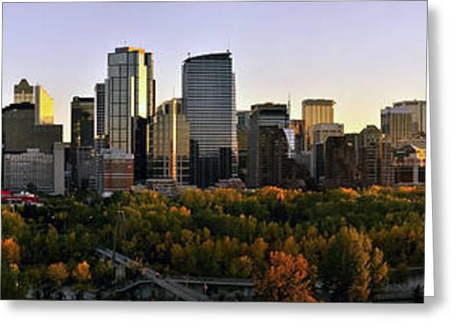 Calgary Greeting Cards - Calgary Panorama Greeting Card by Mountain Dreams