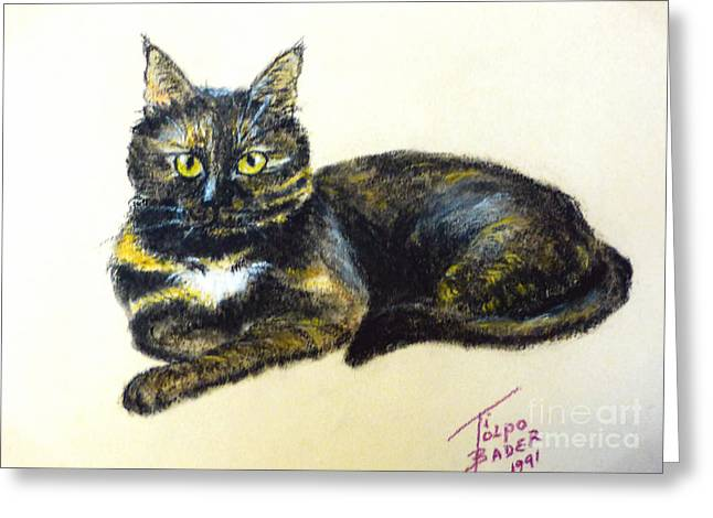 Featured Art Pastels Greeting Cards - Fifi Girl Greeting Card by Art By - Ti   Tolpo Bader