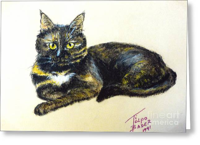Featured Pastels Greeting Cards - Fifi Girl Greeting Card by Art By - Ti   Tolpo Bader