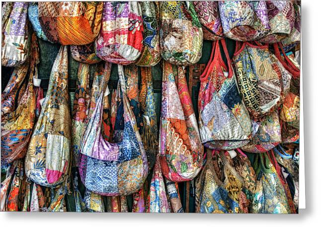 Calico Bags Greeting Card by Brenda Bryant